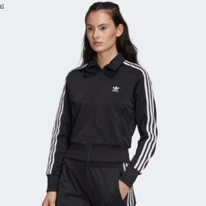 Adidas Firebird Track Jacket Black and White